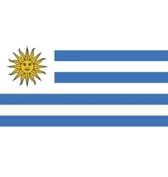 Uruguay flag image vector image vector image