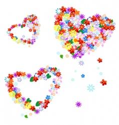 Valentine's flowers vector image vector image