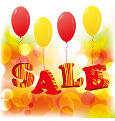 abstract sale background with balloons eps10 vector image vector image