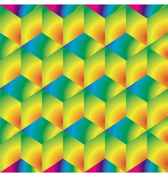 Bright cubes background vector image vector image