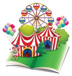 Circus book vector image