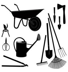 gardening tools isolated garden equipment vector image vector image