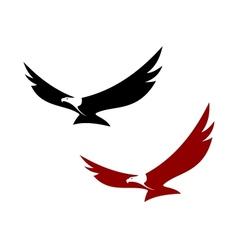 Graceful soaring eagle vector image vector image