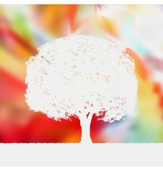 Summer background with tree Silhouette EPS 8 vector image vector image