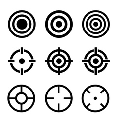 Target Icons Set on White Background vector image vector image