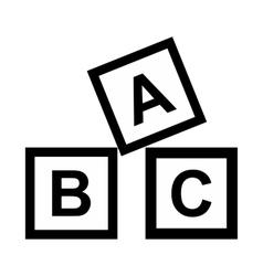 ABC blocks toy simple icon vector image vector image
