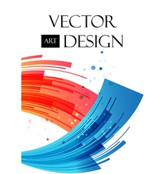 Abstract background red and blue arcuate elements vector image vector image