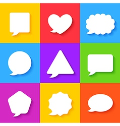 Blank Empty White Speech Bubbles Set vector image