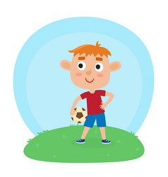 little boy in shirt and vector image