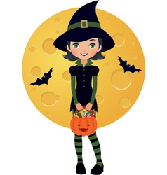 Little witch vector image vector image