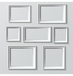 Set of white photo frames vector image