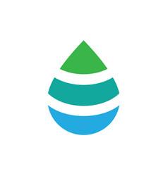 Water drop logo design template vector