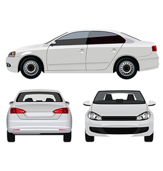 White Car vector image vector image