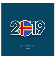 2019 aland typography happy new year background vector