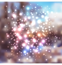 abstract holiday christmas background with lights vector image
