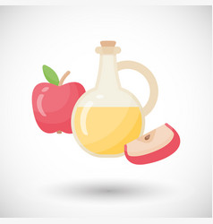 apple cider vinegar flat icon vector image