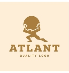 Atlant atlas holds earth quality stylized logo vector