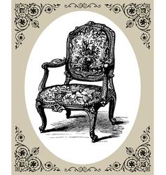 baroque armchair vector image vector image