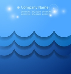 Blue abstract background with water concept vector