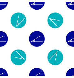 Blue acute angle 45 degrees icon isolated vector