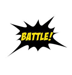 bright battle speech bubble battle colorful vector image