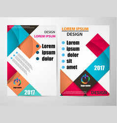 brochure flyer design size a4 page infographics vector image