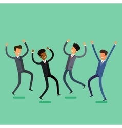 Business concept Cartoon jumping people vector