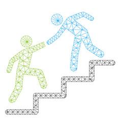 Business help polygonal frame mesh vector