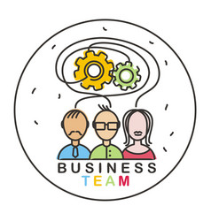 business team 01 vector image