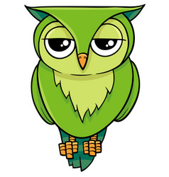 Cartoon owl animal character vector