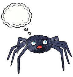 Cartoon spider with thought bubble vector