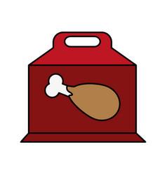 chicken prey flat vector image