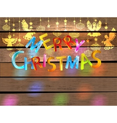 Christmas wood color background vector image