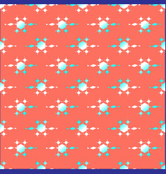 circle green ornament pattern live coral vector image
