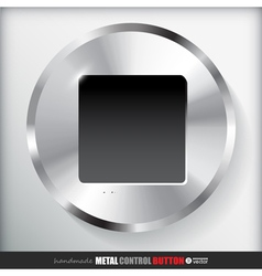 Circle metal stop button applicated for html and vector