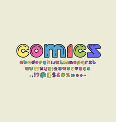 Comics modern alphabet original rounded font vector