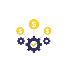 Costs optimization and business efficiency icon vector
