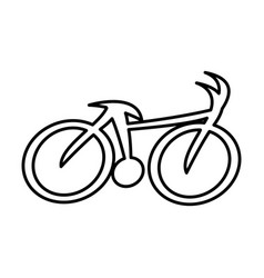 cycling sport silhouette icon vector image