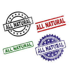 Damaged textured all natural stamp seals vector