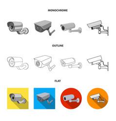 Design camcorder and camera logo set of vector