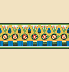 Egyptian national ornaments vector