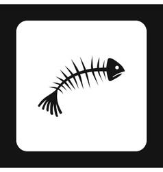 Fish bones icon simple style vector image