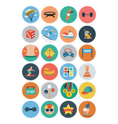 Flat Sports Flat Icons 4 vector