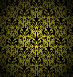 Floral gothic gold vector