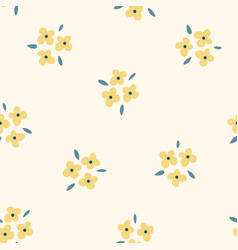 Floral seamless pattern with yellow flowers vector