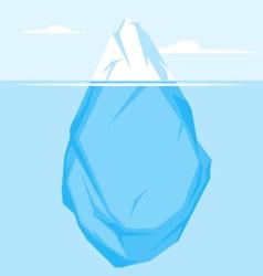 Full Iceberg flat vector