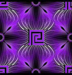 glowing illuminated halftone greek seamless vector image