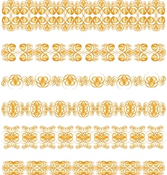 gold border vector image