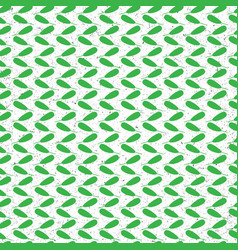 green abstract leaves on seamless pattern vector image