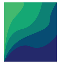 green and blue shade painting or color vector image